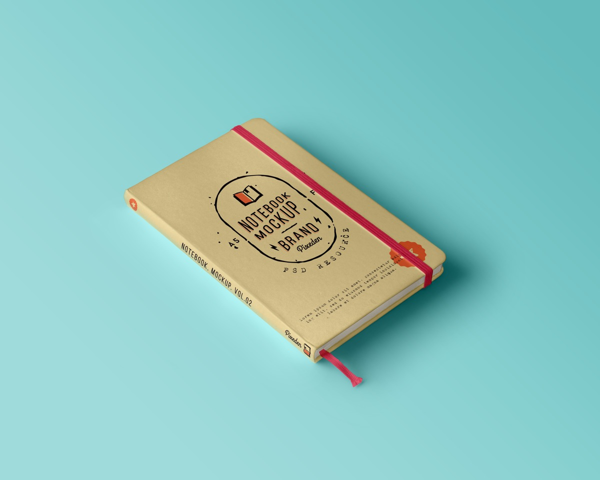 Hardcover Notebook Design And Mockup