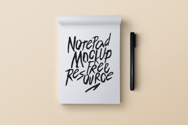 Clean And Simple Notepad And Pen
